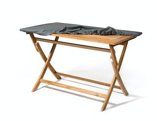 Heinemeyer Abdeckhaube für Tischplatte 190 x 100 cm mit Gummizug, Teak Safe grau