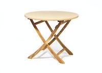 Heinemeyer Abdeckhaube für Tischplatte rund Ø 140 cm mit Gummizug, Teak Safe creme