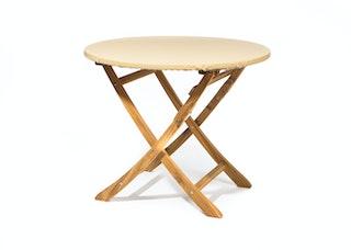 Heinemeyer Abdeckhaube für Tischplatte rund Ø 120 cm mit Gummizug, Teak Safe creme
