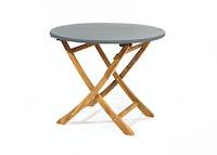 Heinemeyer Abdeckhaube für Tischplatte rund Ø 140 cm mit Gummizug, Teak Safe grau