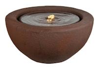 "Heissner Garden Fountain ""Half Ball LED"", rusty color, 50x50x25cm (016602-17)"
