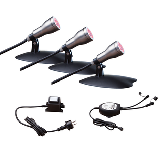 Starter-Set WIFI-SET: 3 RGB-SPOTS mit Alexa-Steuerung (L433-Bundle)
