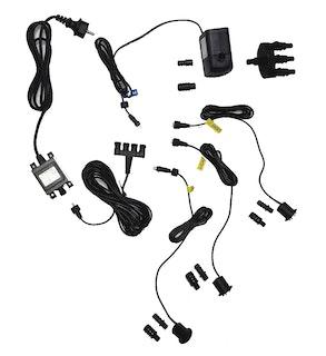 Heissner LED-Set 3 er LED für Steinbrunnen, komplett mit Pumpe, Trafo, etc. ohne Dämmerungssensor und Moosgummis (ET20-16914)