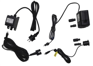 Heissner LED-Set 1 er LED für Steinbrunnen, komplett mit Pumpe, Trafo etc., ohne Dämmerungssensor (ET20-16918)