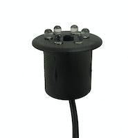 """Heissner LED-Lampe  für Steinbrunnen  warm Weiß, gelb/weiß, Durchmesser 30 mm, Kabellänge 150cm, 3/4 """" Schlauchanschluss (ET21-16910)"""