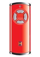 Hörmann Sicherungshandsender HSS 4 Hochglanz BiSecur rot inkl. Batterie