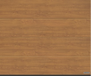 Hörmann Garagentor Sektionaltor LPU42 L-Sicke Decograin Holzdekor Golden Oak