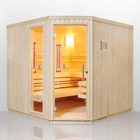 Infraworld Sauna Safir Complete Fichte - 75 mm Multifunktionssauna