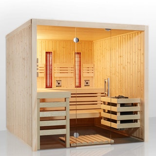 Infraworld Sauna Panorama Complete Fichte - 75 mm Multifunktionssauna