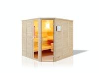 Infraworld Sauna Urban Complete 209 Ecke - 40 mm Massivholzsauna