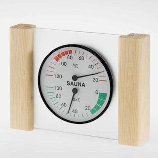 Infraworld Klimamesser mit Glas- Holzrahmen in Fichte oder Zeder