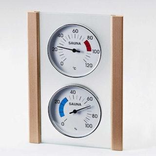 Infraworld Klimamessstation mit Glas-Holzrahmen in Fichte oder Zeder
