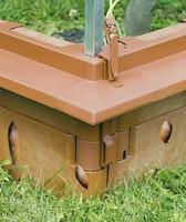 Juwel Schneckenkante + 4 Ecken terracotta
