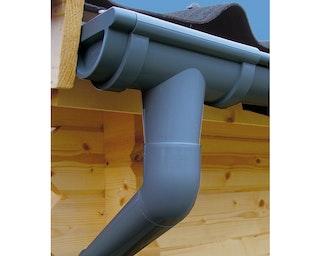 Kunststoff Dachrinnenset für Weka Designhaus 413 B Gr. 1/2