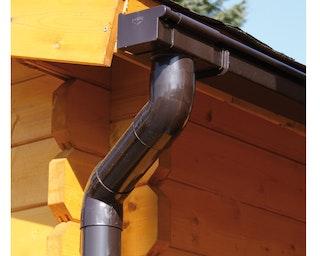 Kunststoff Dachrinnenset 290A für Gartenhäuser