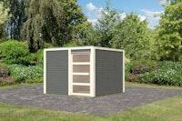Karibu Gartenhaus Qubic 2 mit Schiebetür - 19 mm
