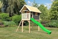 Akubi Kinderspielhaus Kinderspielgerät Gernegross inkl. Wellenrutsche (Set A)