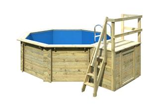 Karibu Pool Ersatz Innenfolie für Pool Modell 1 (Pool-Außenmaße mit Handlauf 400 x 400 cm)