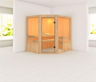 Karibu Sauna Fiona 2 mit Eckeinstieg 68 mm