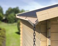 Karibu Holzdachrinnen-Aktions-Set für Flachdächer bis 300 cm (Set 1)