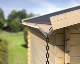 Karibu Holzdachrinnen-Aktions-Set für Flachdächer bis 500 cm (Set 2)