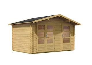Karibu Woodfeeling Gartenhaus Blockbohlenhaus Mittelwandhaus Radur 0/1- 28 mm