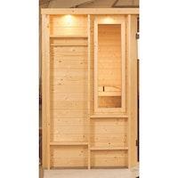 Karibu Fenster für Saunafass 25 x 60 cm