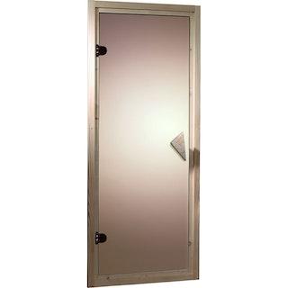 Karibu bronzierte Ganzglastür für 68 mm Kabinen