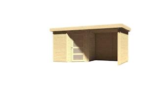 Karibu Woodfeeling Gartenhaus Schwandorf 3/5 inkl. 225 cm Schleppdach//Seiten- und Rückwand