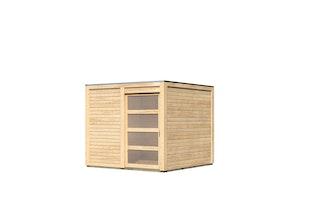 Karibu Gartenhaus Qubic 1 mit Schiebetür - 19 mm