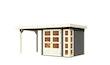Karibu Woodfeeling Gartenhaus Kerko 3/4/5/6 mit 240 cm Schleppdach - 19 mm