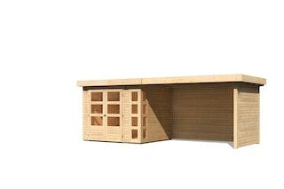 Karibu Woodfeeling Gartenhaus Kerko 3/4/5 mit 280 cm Schleppdach/Seiten- und Rückwand