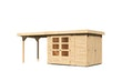 Karibu Woodfeeling Gartenhaus Retola 2/3/4/5/6 inkl. Anbauschrank u. 280 cm Schleppdach