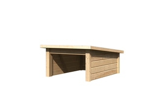 Karibu Woodfeeling Rasenmähroboterhaus 2 Pultdach - B 78 x T 96 cm - 19 mm