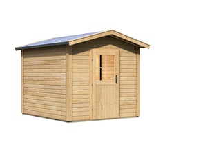 Karibu Woodfeeling Gartensauna Saunahaus Birka 1 mit Vorraum