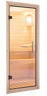 Karibu Klarglastür für 68 mm Kabinen