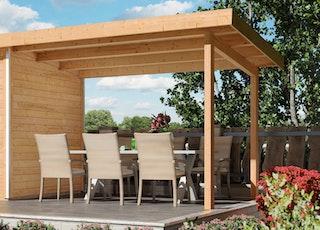 Karibu Schleppdach für Gartensaunen Skrollan 2+3