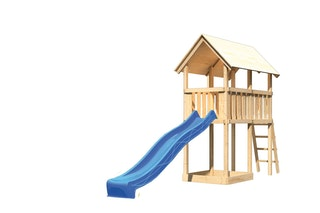 Akubi Kinderspielturm Danny inkl. Wellenrutsche (Set A)