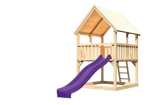 Akubi Kinderspielturm Luis inkl. Wellenrutsche (Set A)