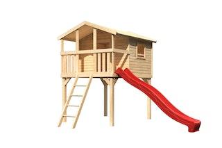 Akubi Kinderspielhaus Kinderspielgerät Benjamin inkl. Wellenrutsche (Set A)