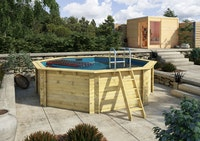 Karibu Pool Modell 1 A Sparset Superior - kesseldruckimprägniert - 400 x 400 cm