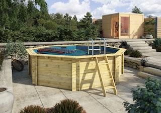 Karibu Pool Modell 1 A Sparset Komfort - kesseldruckimprägniert - 400 x 400 cm