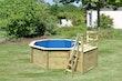 Karibu Pool Modell 1 B Sparset Komfort - kesseldruckimprägniert - 480 x 400 cm
