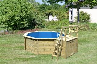 Karibu Pool Modell 1 B Sparset Superior - kesseldruckimprägniert - 480 x 400 cm