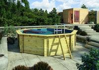 Karibu Pool Modell 2 A Sparset Superior - kesseldruckimprägniert - 470 x 470 cm