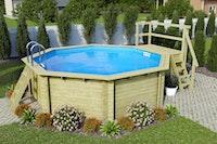 Karibu Pool Modell 2 B Sparset Superior - kesseldruckimprägniert - 550 x 470 cm