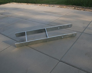 Karibu H-Pfostenanker für 12 x 12 cm Pfosten - 6er Set, 60 cm