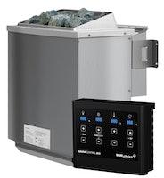 Karibu 9 kW Bio-Kombiofen Saunaofen inkl. Steuergerät EASY schwarz - Sparset