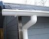 Kunststoff Dachrinnenset für Weka Weekendhaus 137 mit Vordach (200 cm) und 137 mit Terrasse