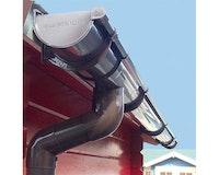 Kunststoff Dachrinnenset für Skan Holz Terrassenüberdachung aus Douglasie